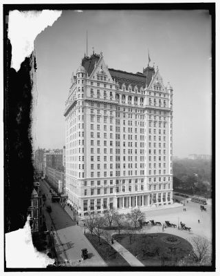 Plaza Hotel New York City early 1900s